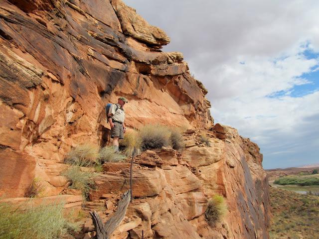 Paul on the Bull Bottom stock trail