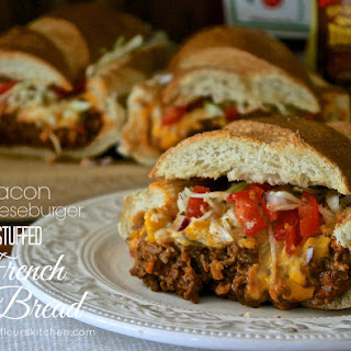 Bacon Cheeseburger Stuffed French Bread.