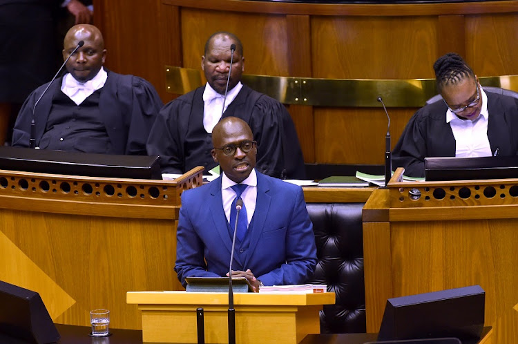 Finance Minister Malusi Gigaba delivers his medium-term budget policy statement. Picture: ELMOND JIYANE