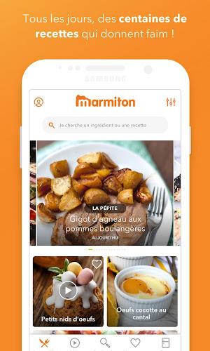 Marmiton : Recettes gourmandes Android App Screenshot