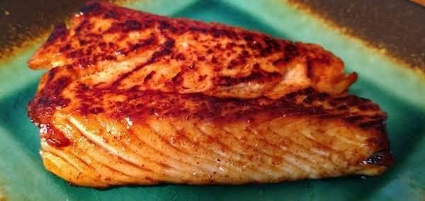 Harissa And Honey Glazed Salmon