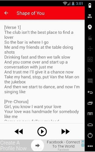 Ed Sheeran Lyrics Song APK 1 0