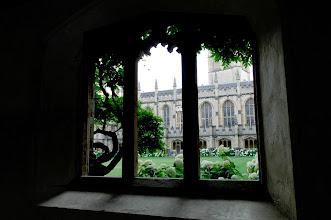 Photo: Magdalen College's cloisters.