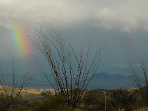 Photo: Where rainbows wait for rain.