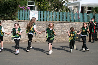 Photo: Longwell Green School Morris Side performing for the Priston Festival.© Richard Bottle 2008