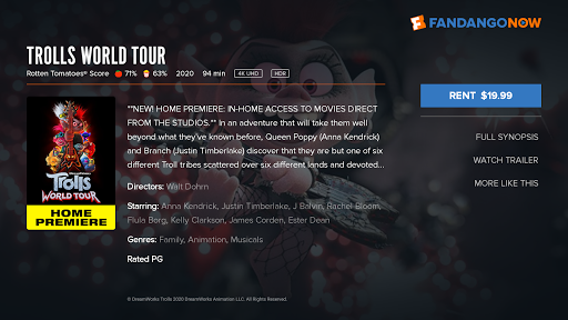 fandangonow for android tv screenshot 3
