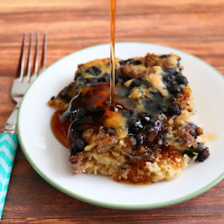 Blueberry Sausage Pancake Breakfast Bake
