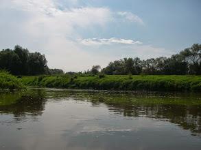 Photo: łączą się wody Odry i kanału