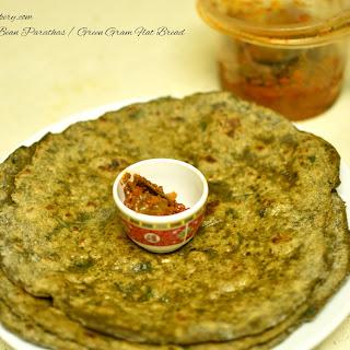Mung Bean Parathas / Green Gram Flat Bread