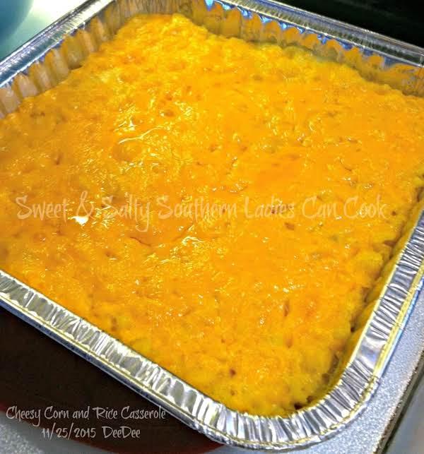 Cheesy Corn & Rice Casserole Recipe