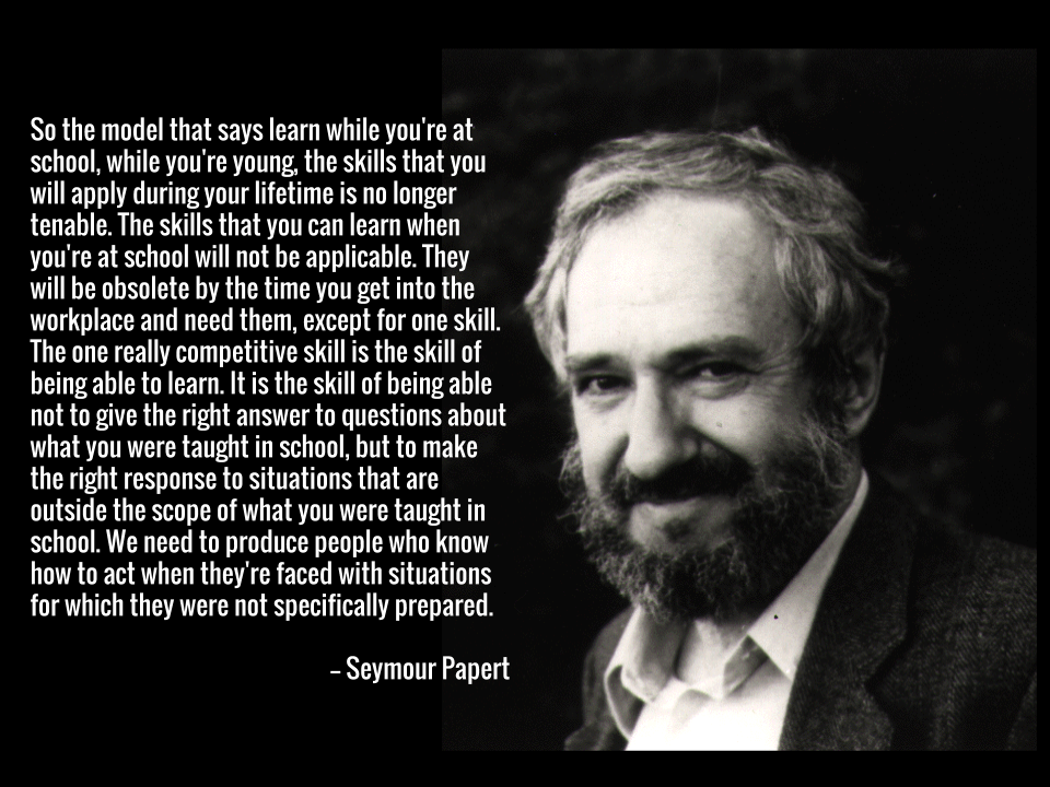 Seymour Papert quote.