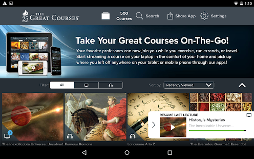 The Great Courses- screenshot thumbnail