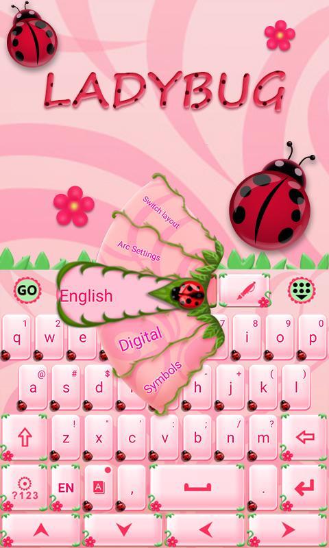 Cute-Ladybug-GO-Keyboard-Theme 8