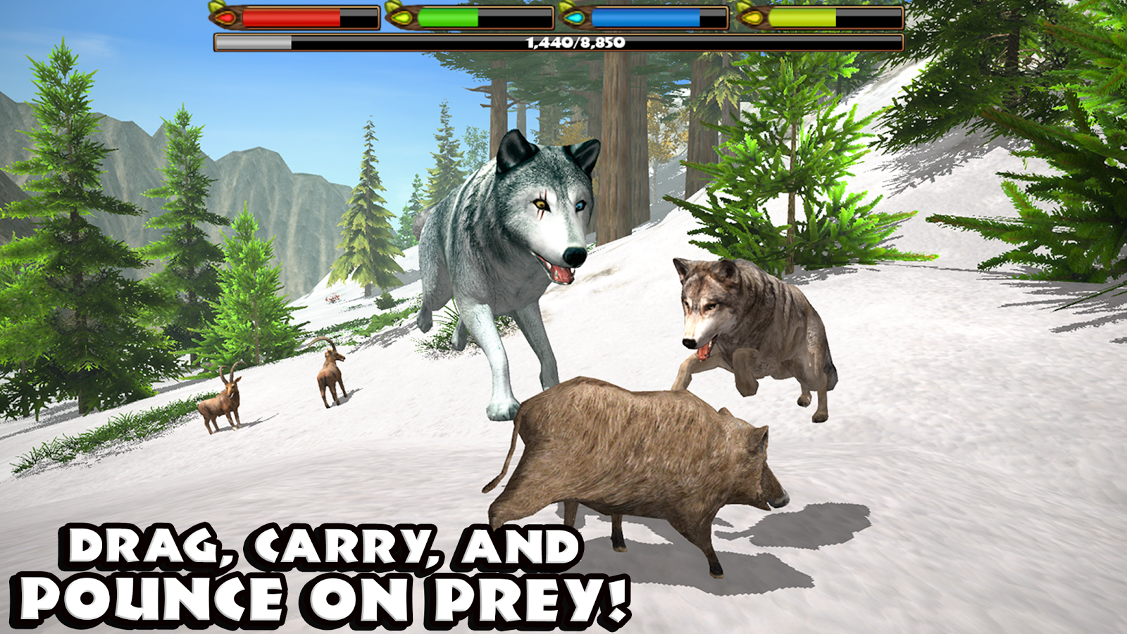 Ultimate Wolf Simulator- screenshot