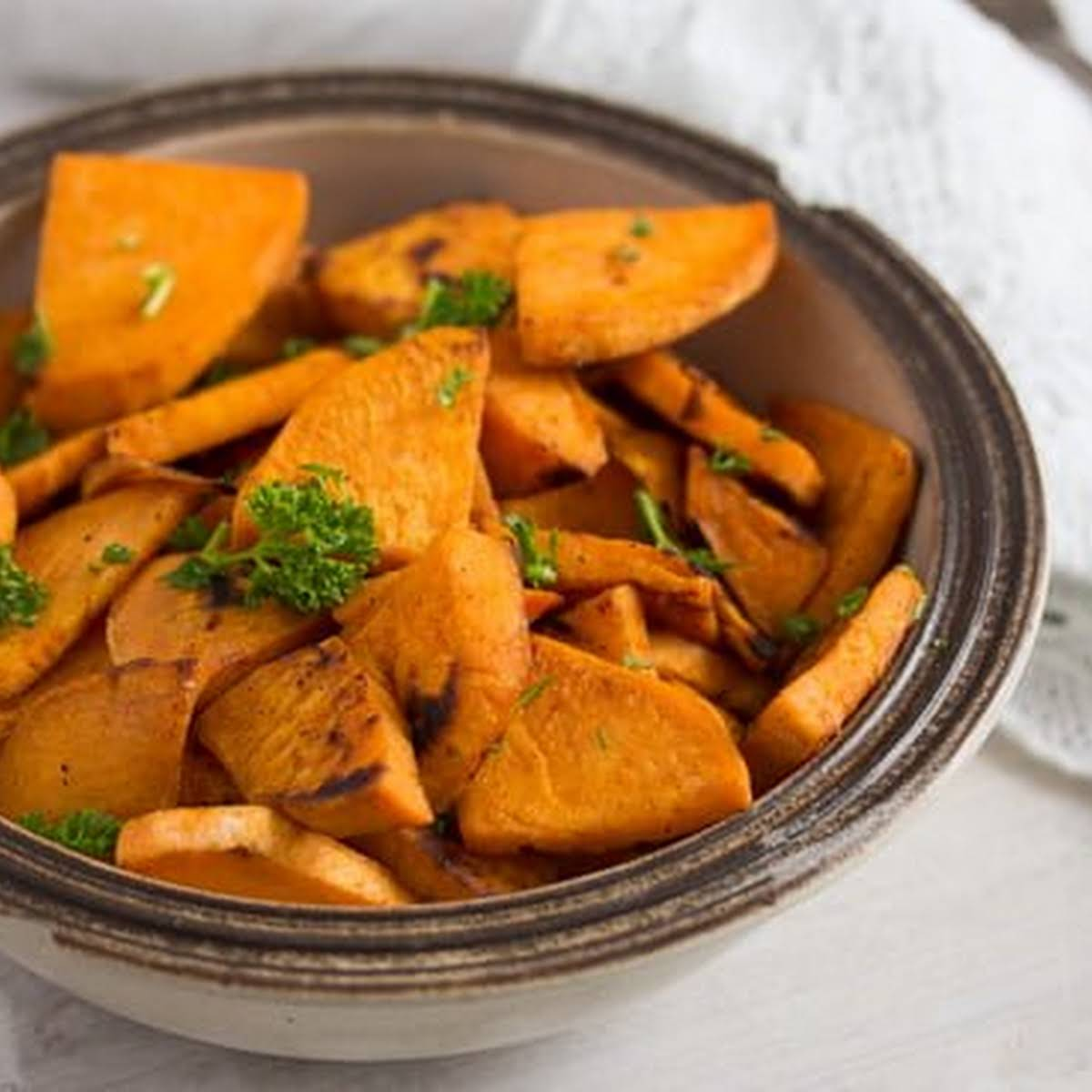 Pan Fried Sweet Potatoes Sweet Potato Side Dish