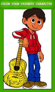 Color COCO Miguel Coloring Book for kids - náhled