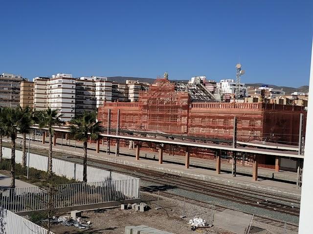 Obras en la antigua estación del ferrocarril
