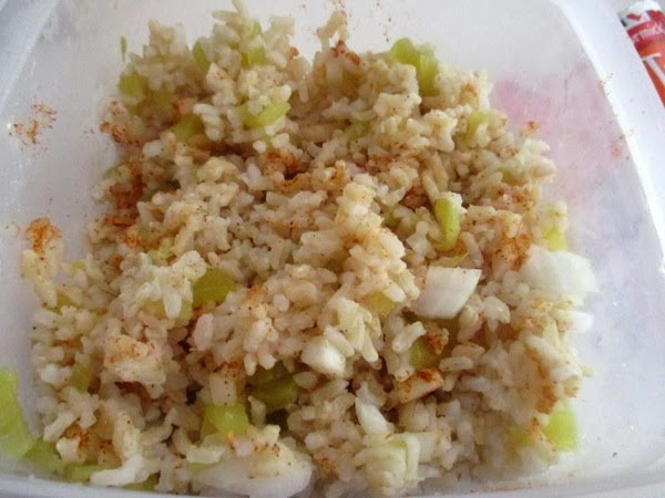 Cook your rice according to directions on box, drain well. Mix the rice with...
