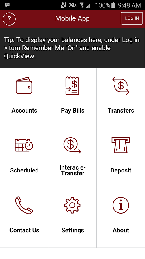 LeRoy Credit Union Mobile App- screenshot