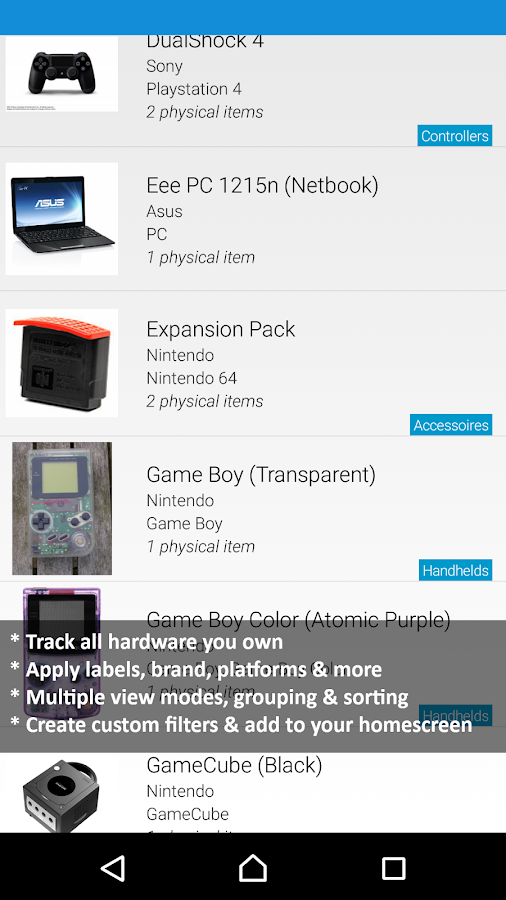 My Game Collection (Tracker) - screenshot