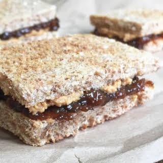 Peanut Butter & Prune Jam Sandwich.