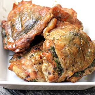 Mark Bittman's Grilled Mediterranean Chicken Thighs.