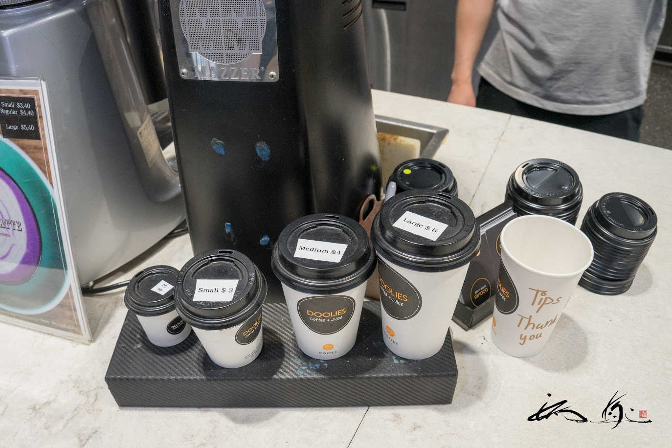 サイズが4種類のコーヒー!