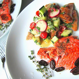 What's for Dinner? Fattoush Salad & Roasted Salmon