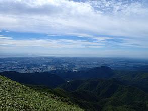 山頂から伊勢湾を望む