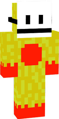 It is super yellow man but with a mask