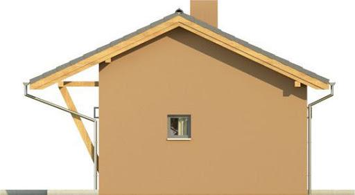 Domek 2 - Elewacja lewa