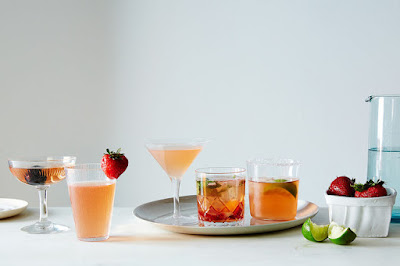 Ten ingredients, five cocktails.