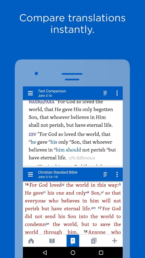 Logos Bible study and reading plans- screenshot