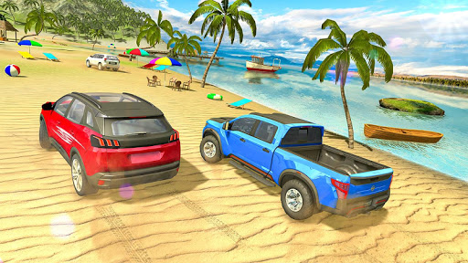 Water Surfer Jeep Cars Race on Miami Beach 1.5 screenshots 2