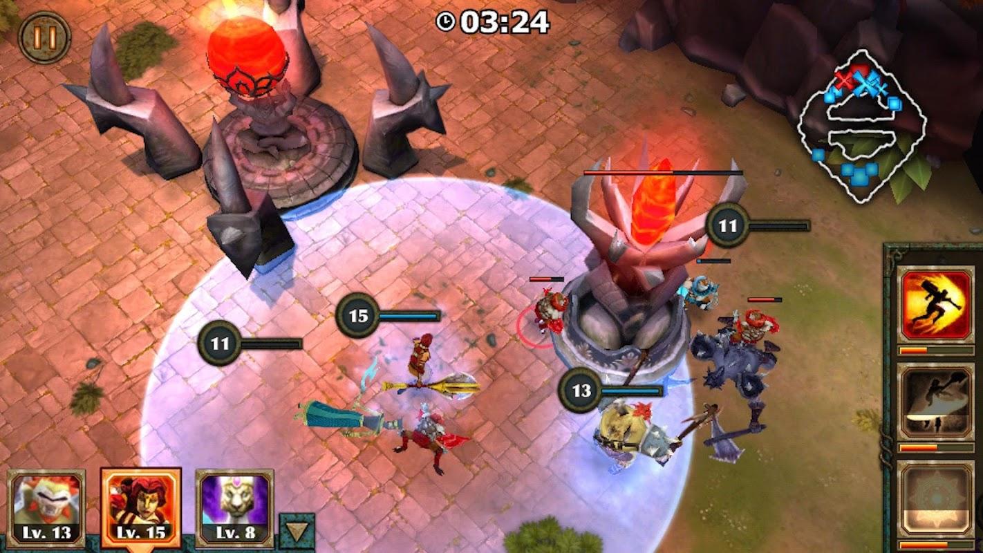 Legendary Heroes MOBA screenshots