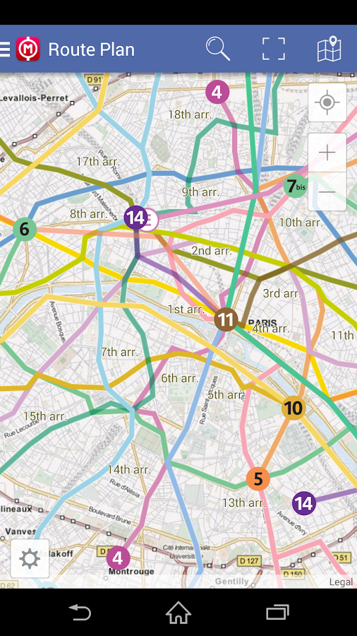 Paris Metro Map - Route Plan- screenshot