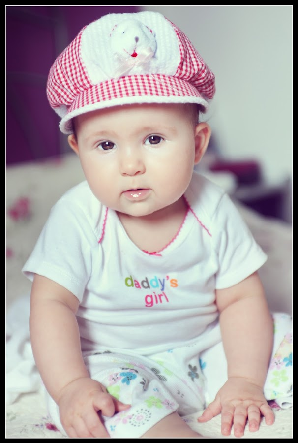 baby with a lovely hat by Boštjan Vučak - Babies & Children Children Candids ( child, candids, funny, lovely, baby, hat )