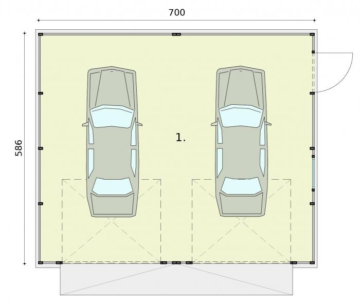 Projekt Garażu Gb16 Garaż Blaszany Txb 863 3974m²