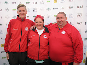 Photo: Coaches Denmark. Theis Bielfeld, Stephanie Dellinger and Christian Maglemose. Photo: Bengt Svensson