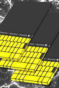 Téma žluté klávesnice - náhled