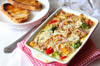 Baked Vegetables in White Creamy Sauce