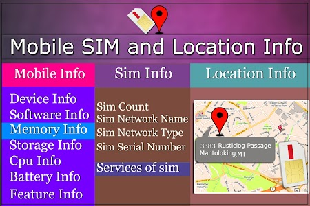 Mobile, SIM and Location Info screenshot 8