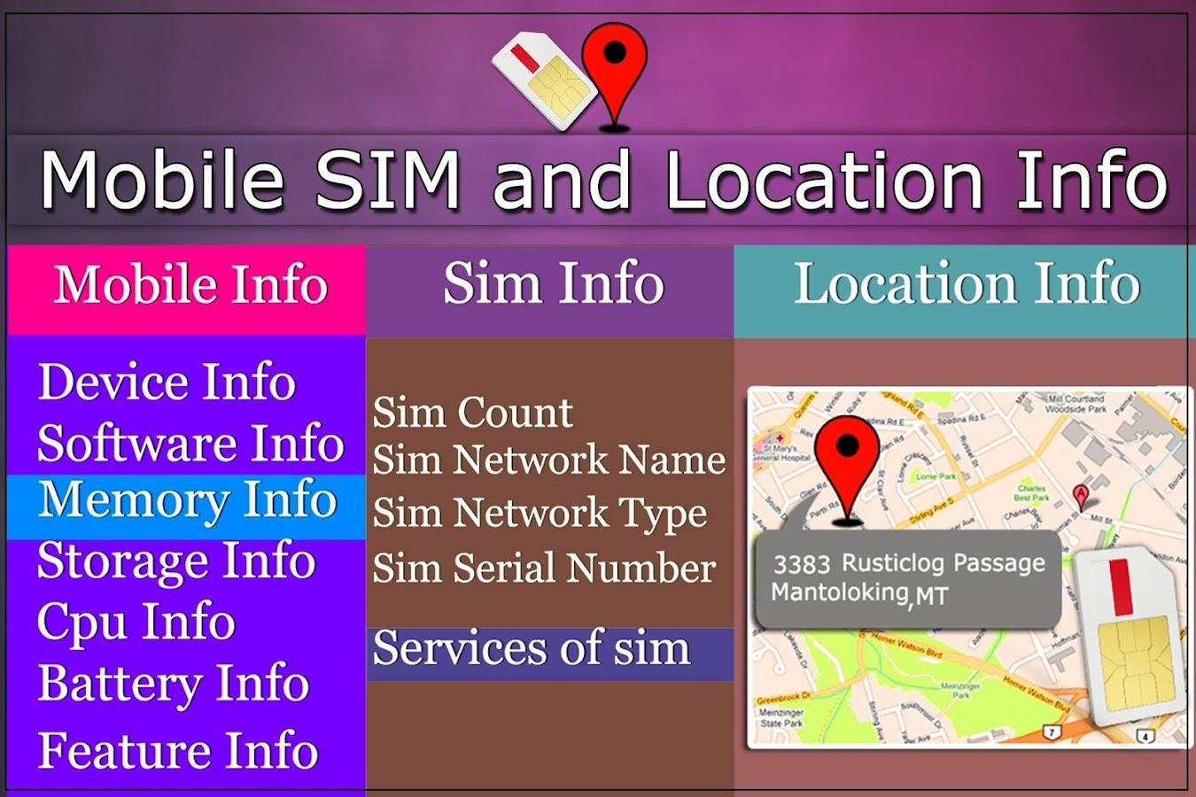 Mobile, Sim And Location Screenshot
