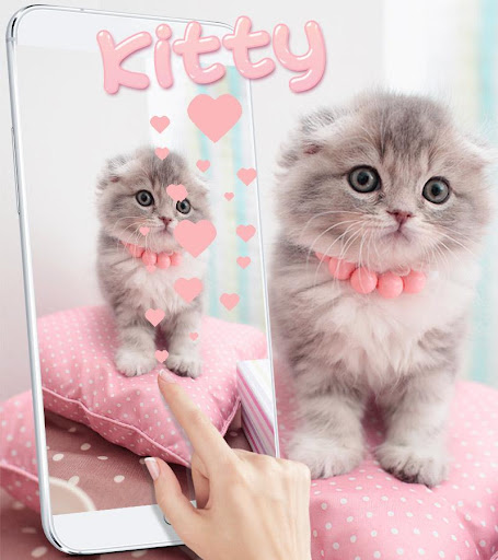 Pink Cute Kitty Cat Theme Apk 2