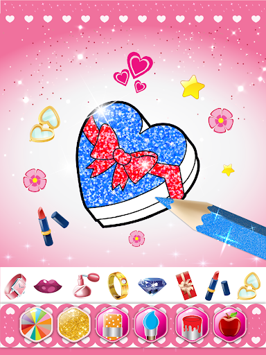 Glitter beauty coloring and drawing screenshot 13