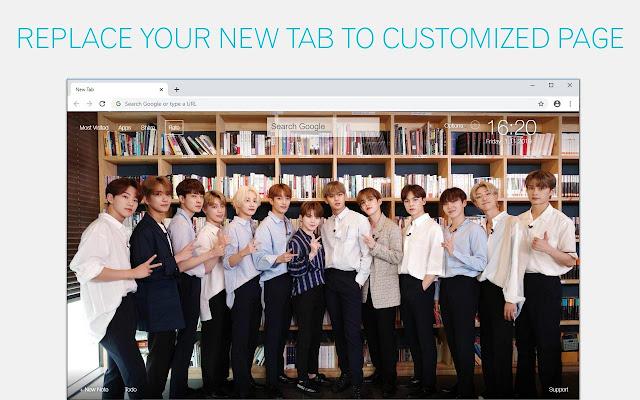 Kpop Seventeen Custom New Tab - freeaddon.com