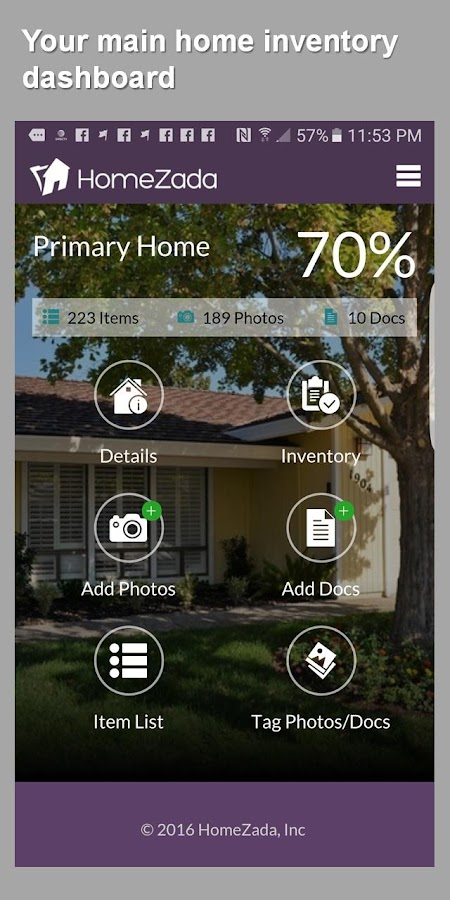 HomeZada Mobile- screenshot