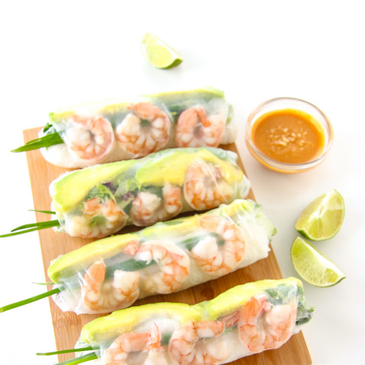 Shrimp and Avocado Summer Rolls Recipe | Yummly