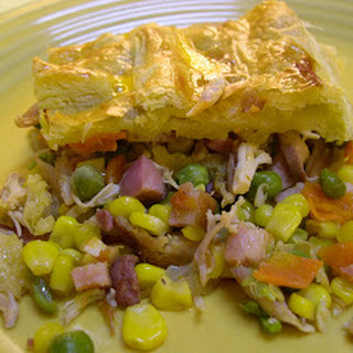 Savory Chicken Bacon Pastry.