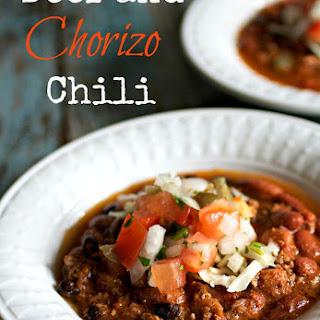 Beef and Chorizo Chili.